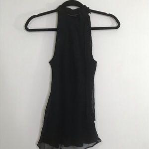 Banana Republic black silk blouse small